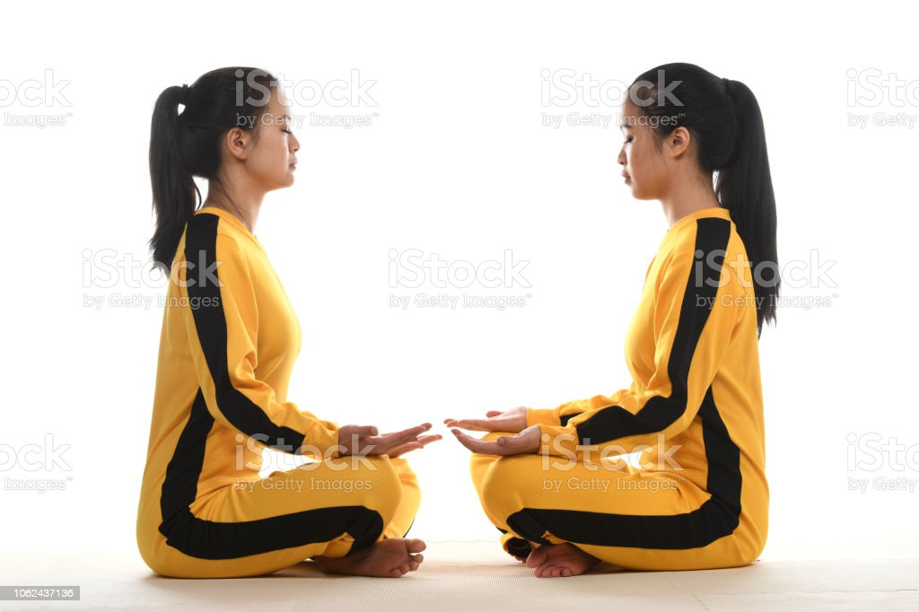 Partner Meditation stock photo