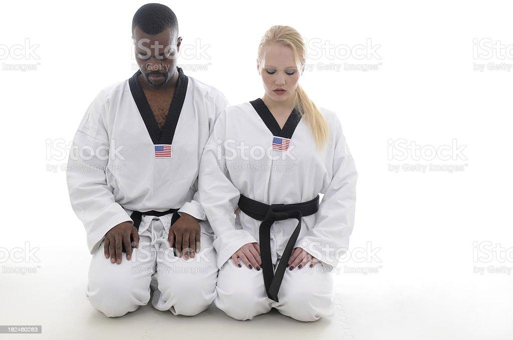 Partner meditation royalty-free stock photo