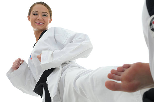 partner one step drills - martial arts gerville stock pictures, royalty-free photos & images