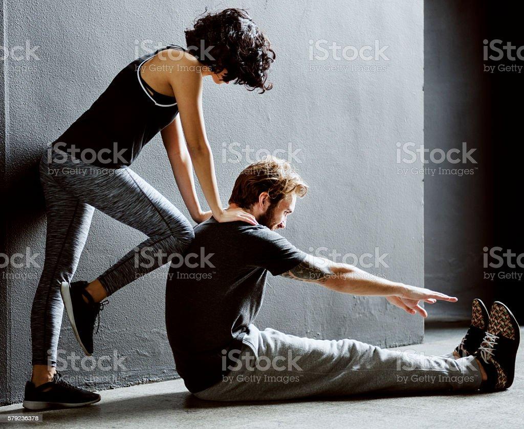 Aufwärmen mit partner