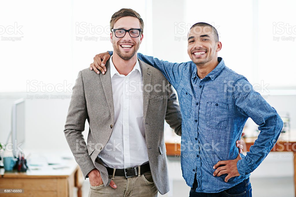 Partner with someone who wants you to succeed stock photo