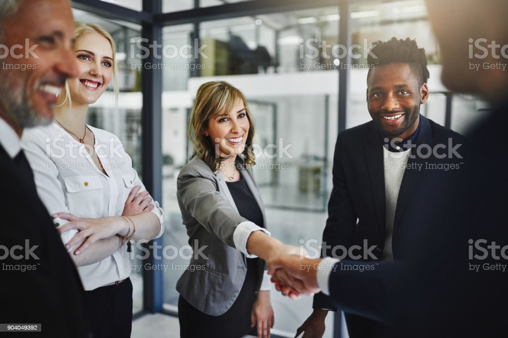 Partnering together to achieve their greatest success yet stock photo