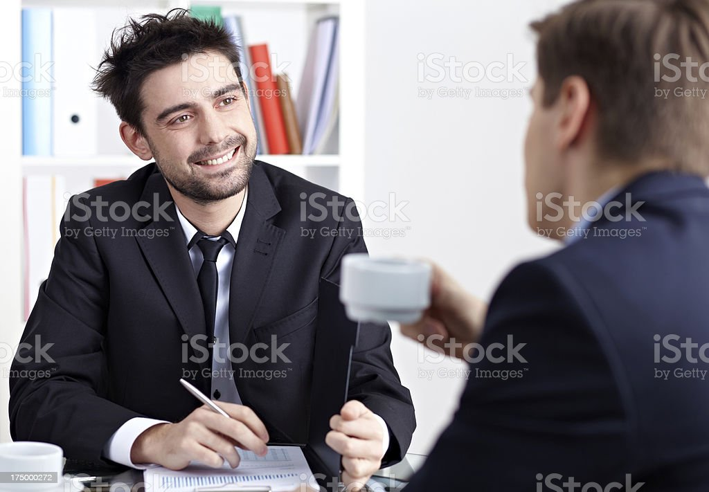 Partners at office royalty-free stock photo