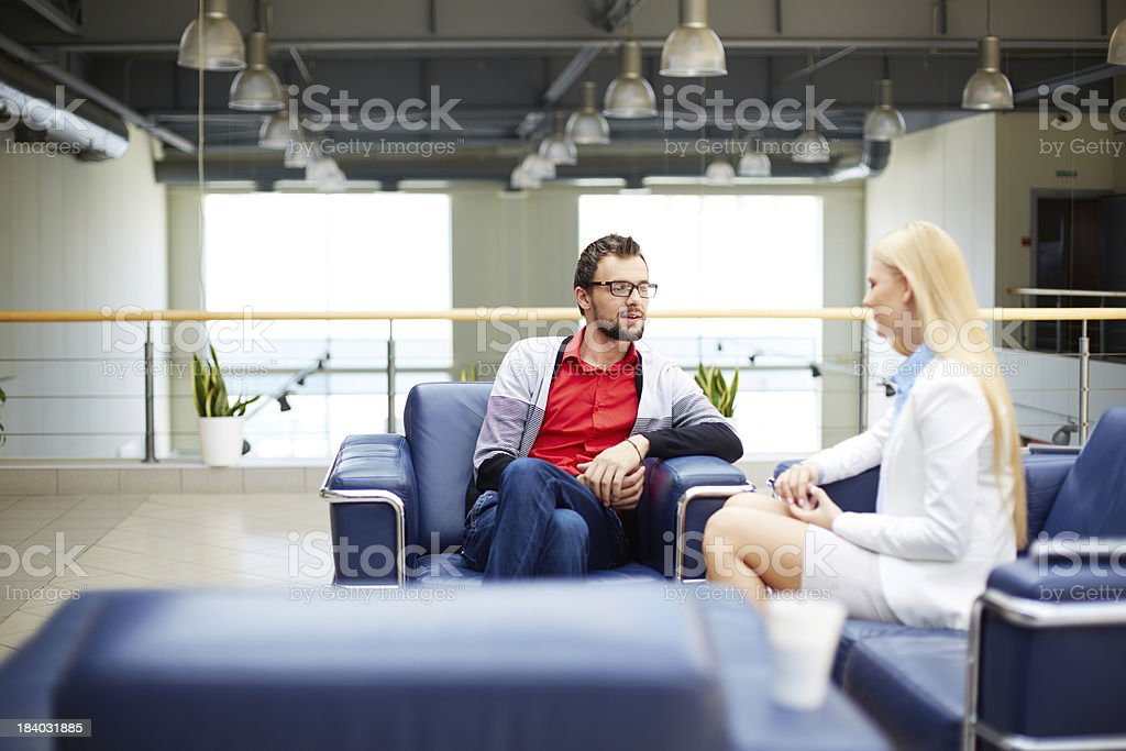 Partners interacting royalty-free stock photo