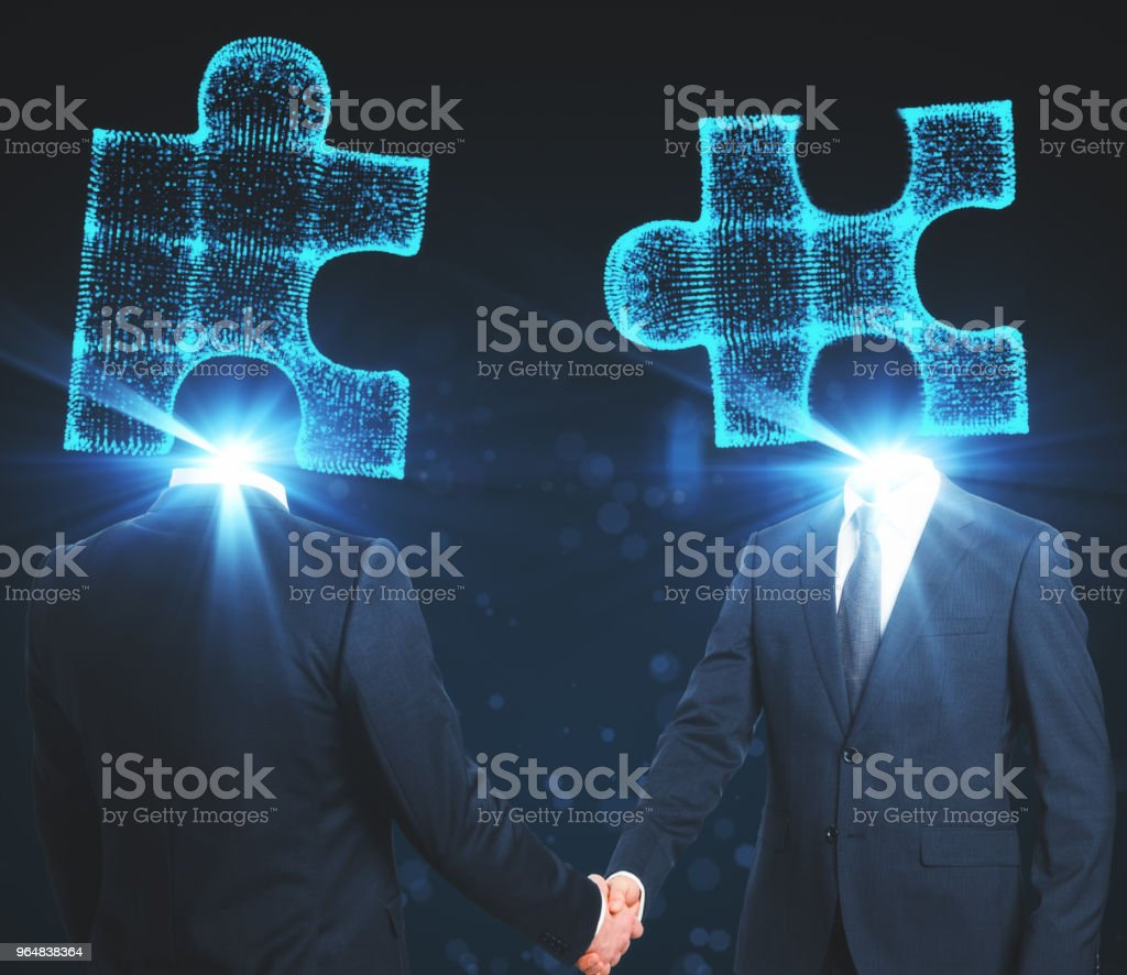 Partnership and success background royalty-free stock photo
