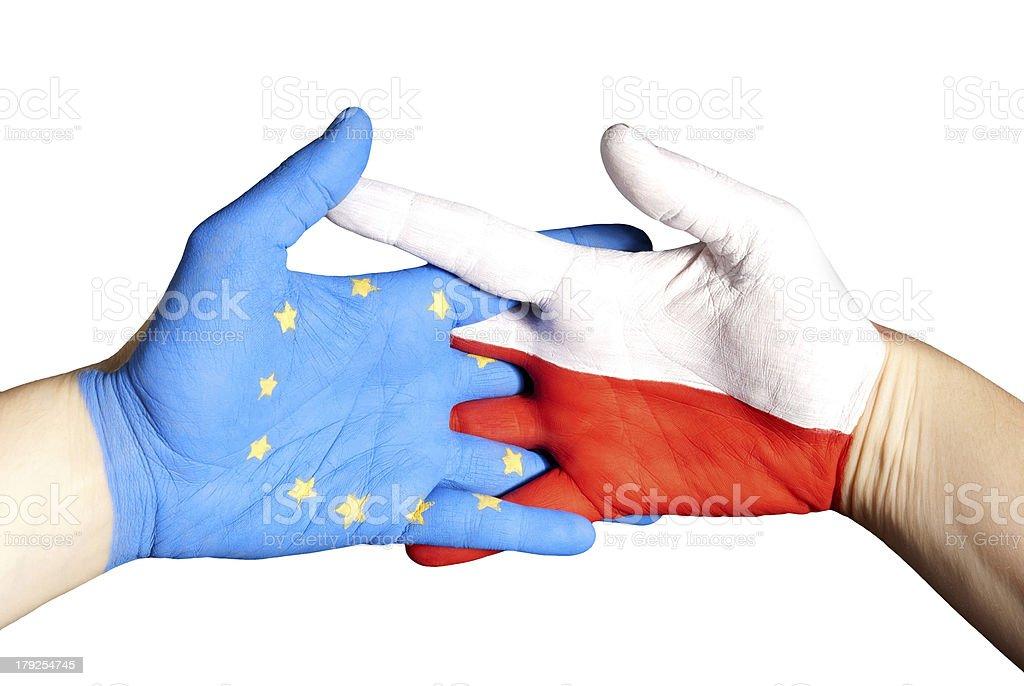 partnership between poland and europe royalty-free stock photo