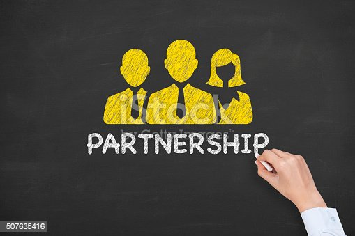 istock Partnership Concept on Chalkboard 507635416
