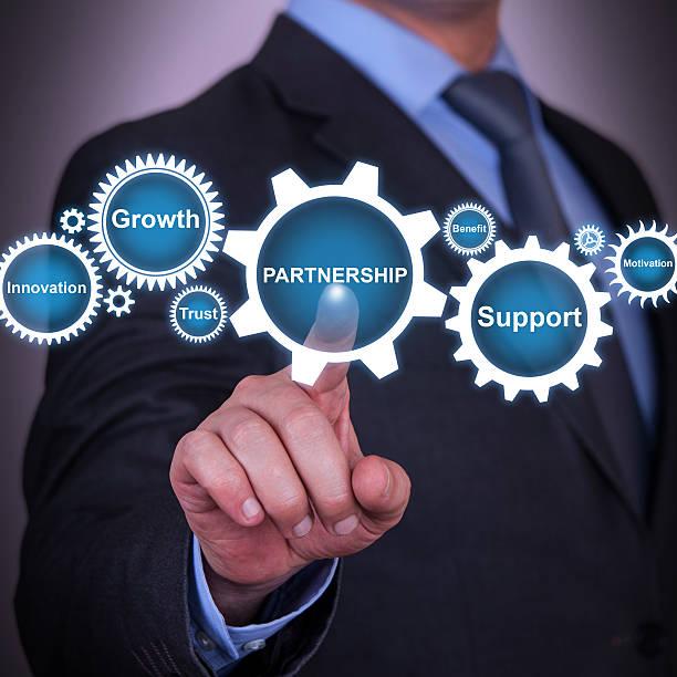 Partnership Concept Solution on Visual Screen stock photo