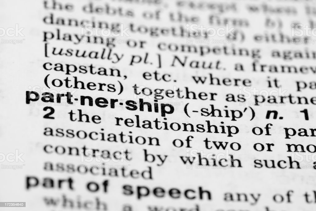 Partnership Definition royalty-free stock photo