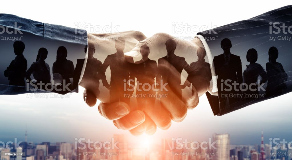 Partnership of business concept. Group of businessperson. Customer support. Teamwork. - Royalty-free Adult Stock Photo