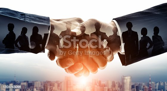 istock Partnership of business concept. Group of businessperson. Customer support. Teamwork. 1204743098