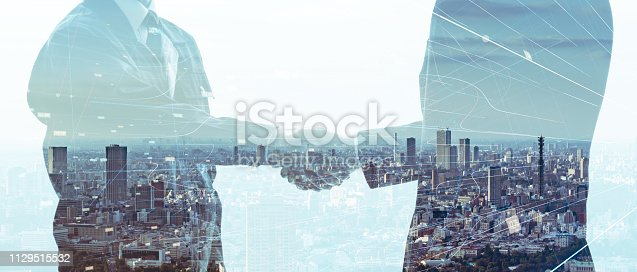 istock Partnership of business concept. 1129515532