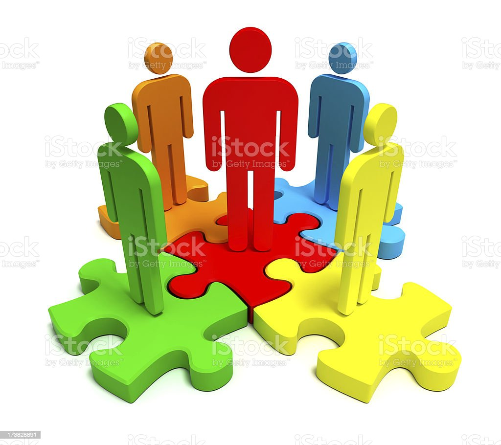 Partnership puzzle royalty-free stock photo