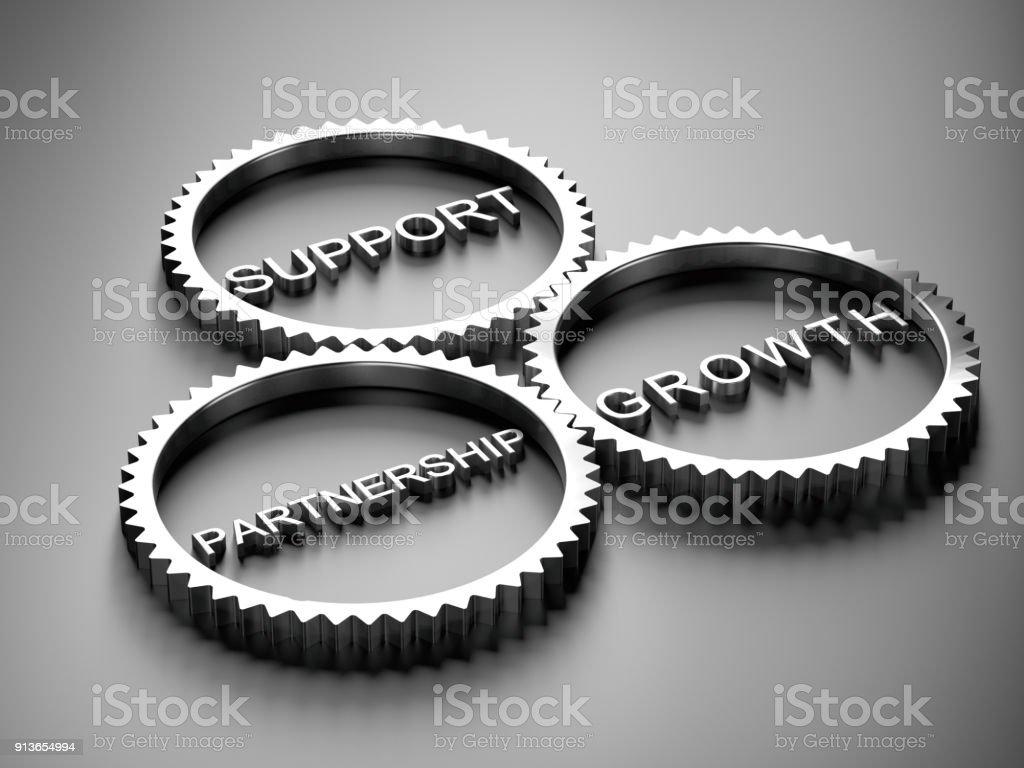 Partnerschaft, Unterstützung und Wachstum Konzepte – Foto