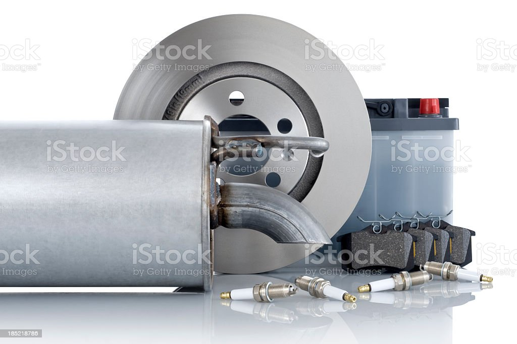 Parts for auto mechanical work royalty-free stock photo
