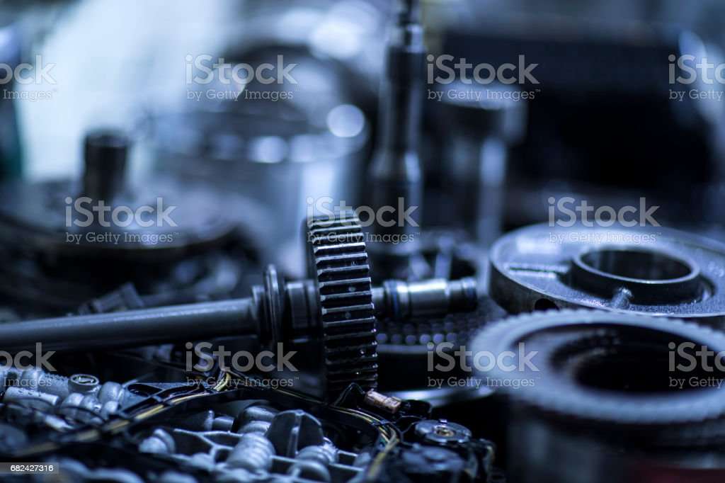 Parts Of Automatic Transmission stock photo