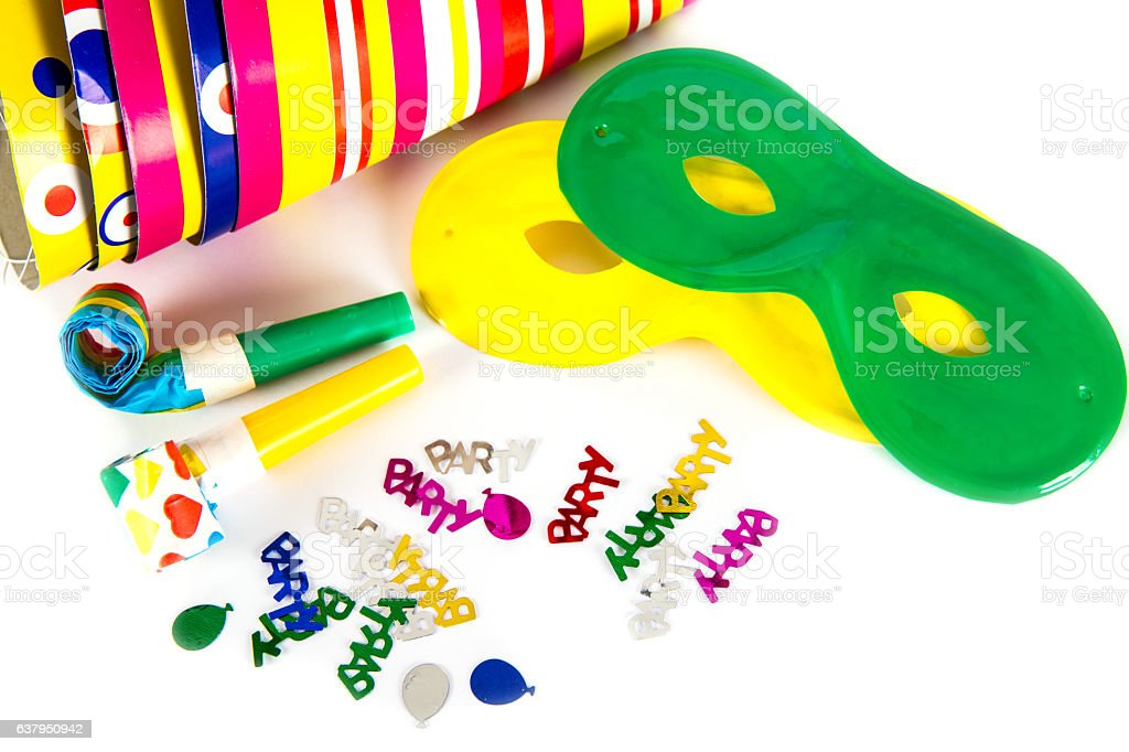 Party accessories isolated stock photo