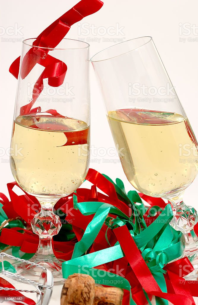 party and champagne glasses royalty-free stock photo
