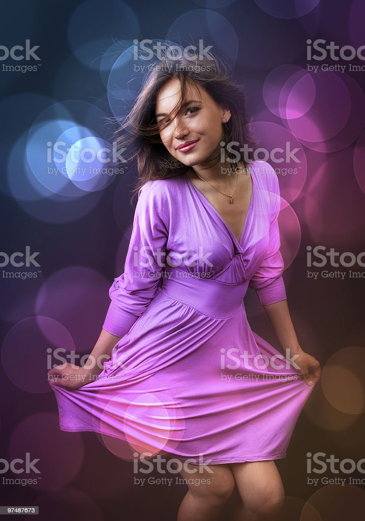 Party and nightlife - happy woman dance royalty-free stock photo