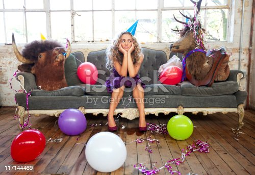 istock Party Animals and Beautiful Young Woman 117144469