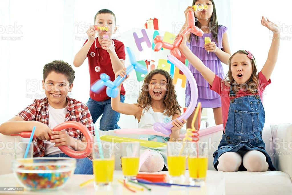 Party at birthday stock photo