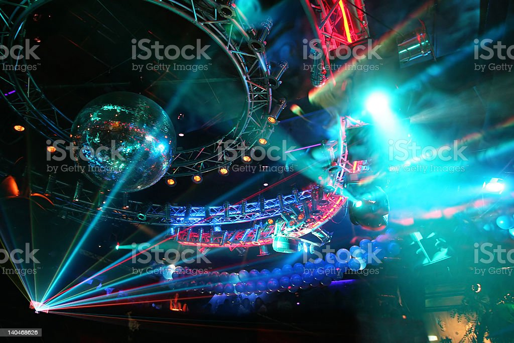 Party at Large Disco stock photo