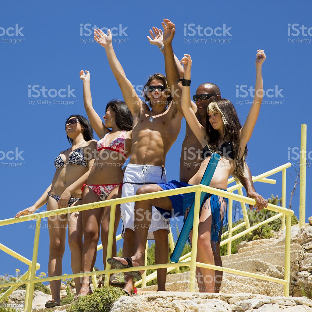 Party at the Beach royalty-free stock photo