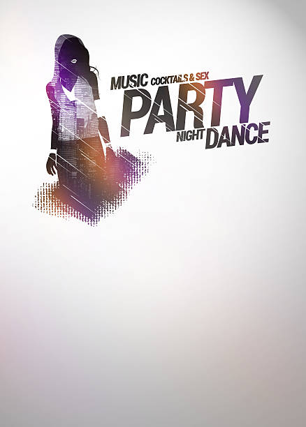 party background - hip hop poster bildbanksfoton och bilder