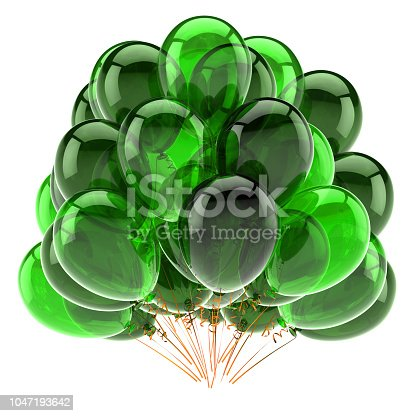 istock party balloon bunch green translucent classic 1047193642