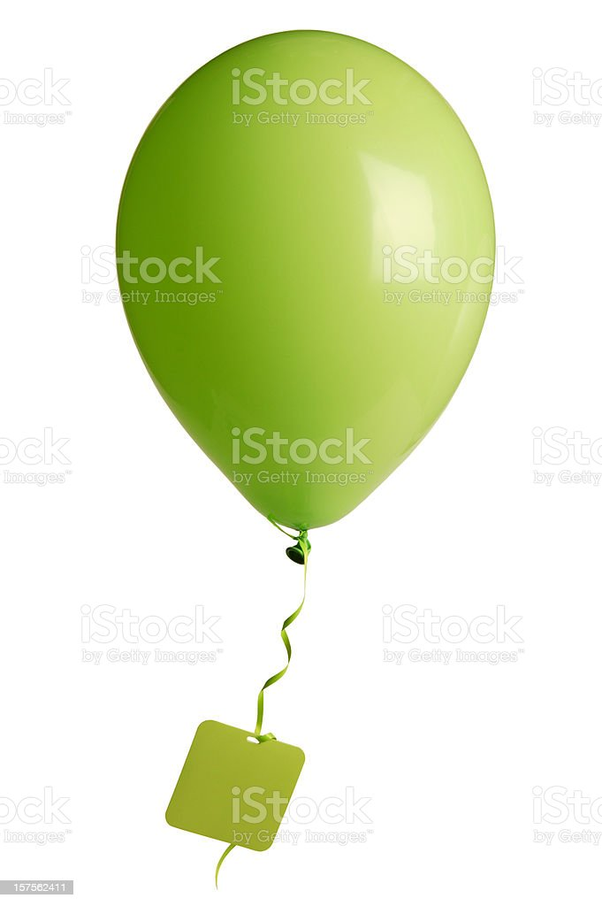 party balloon with blank tag royalty-free stock photo
