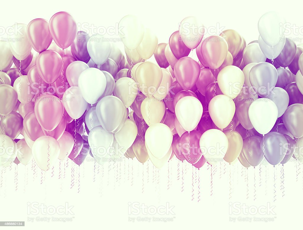 Party balloons background stock photo
