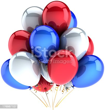 istock Party balloons colored for Independence Day celebration 176987107