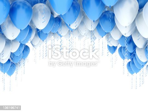istock Party Balloons Frame 136196741