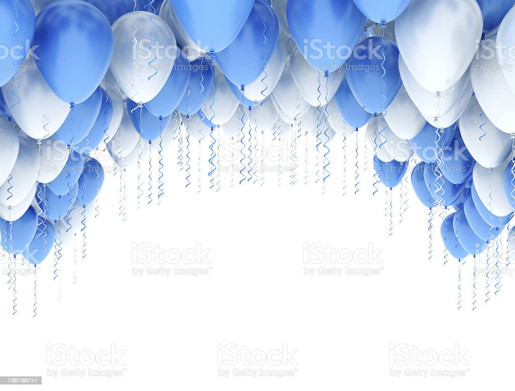 Party Balloons Frame stock photo