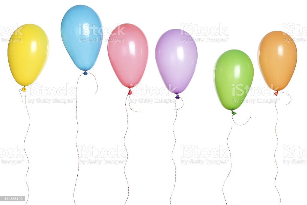 Party - Balloons in a Row stock photo