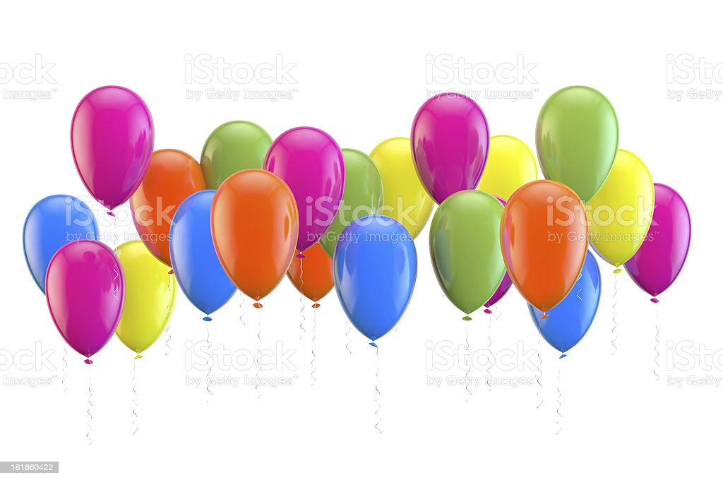 Party balloons isolated on white background royalty-free stock photo