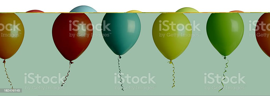 party balloons isolated on white stock photo
