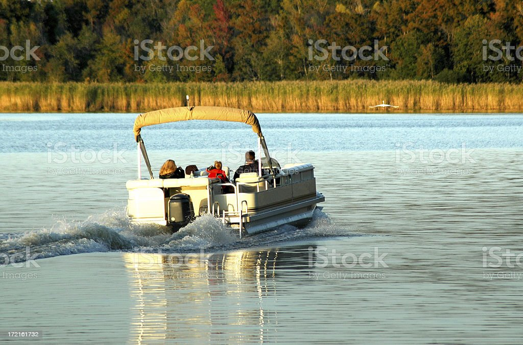 Party Boat on the River stock photo
