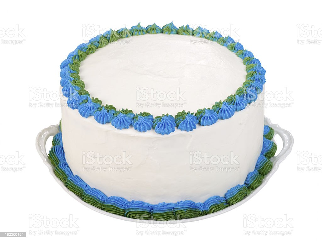 Party cake to personalize stock photo