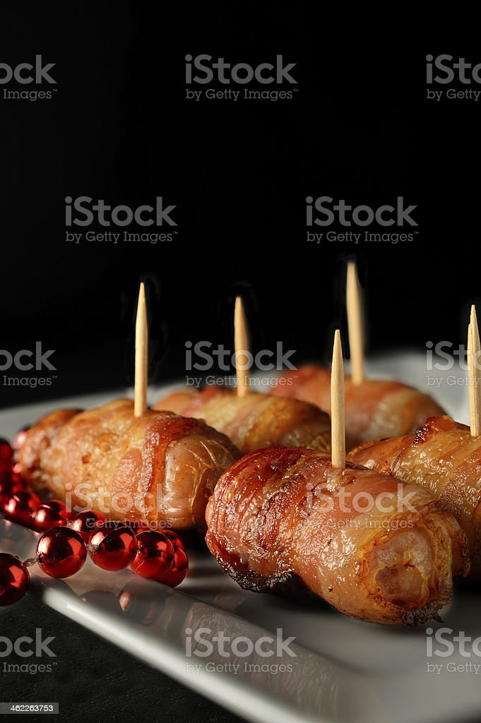 Party Cocktail Sausages stock photo