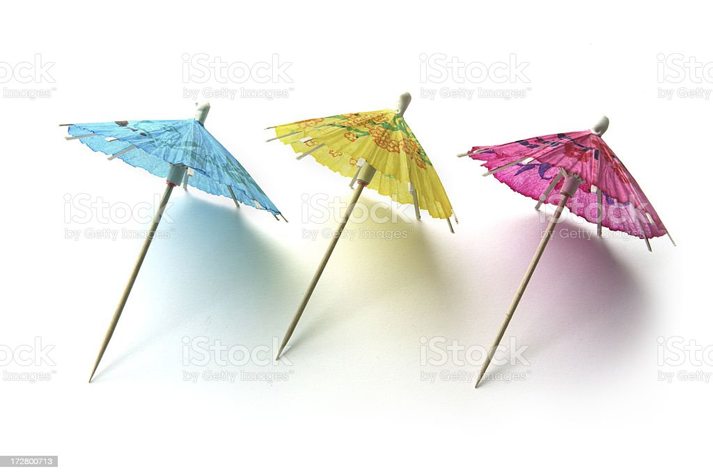 Party: Cocktail Umbrella royalty-free stock photo