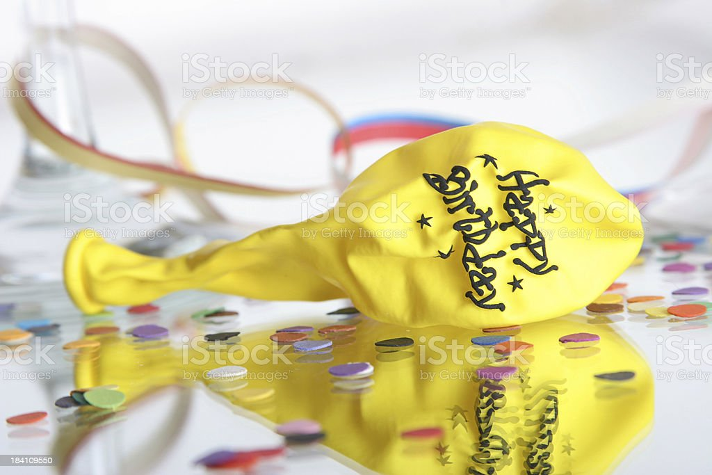 party coming to the end royalty-free stock photo