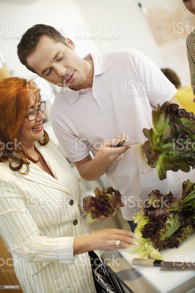 Party cooking royalty-free stock photo