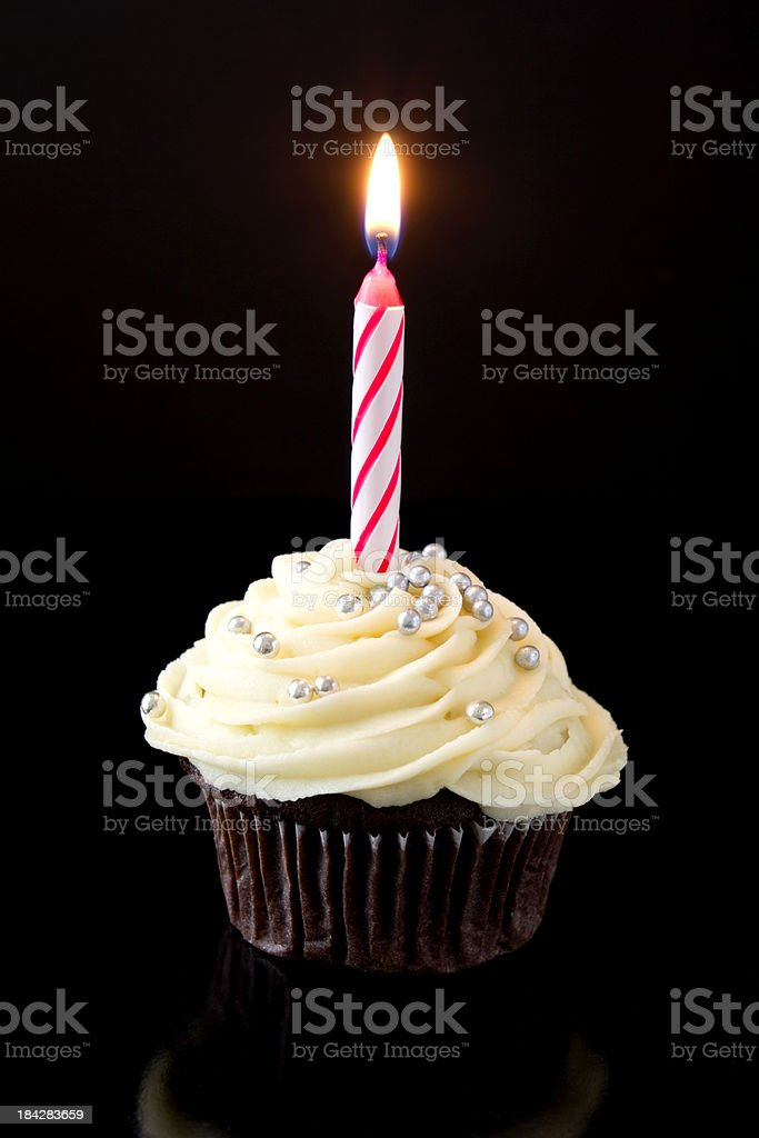 Party cupcake stock photo