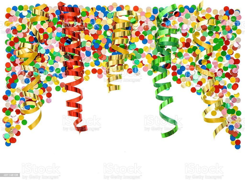 Серпантин и конфетти армированные нитки для шитья