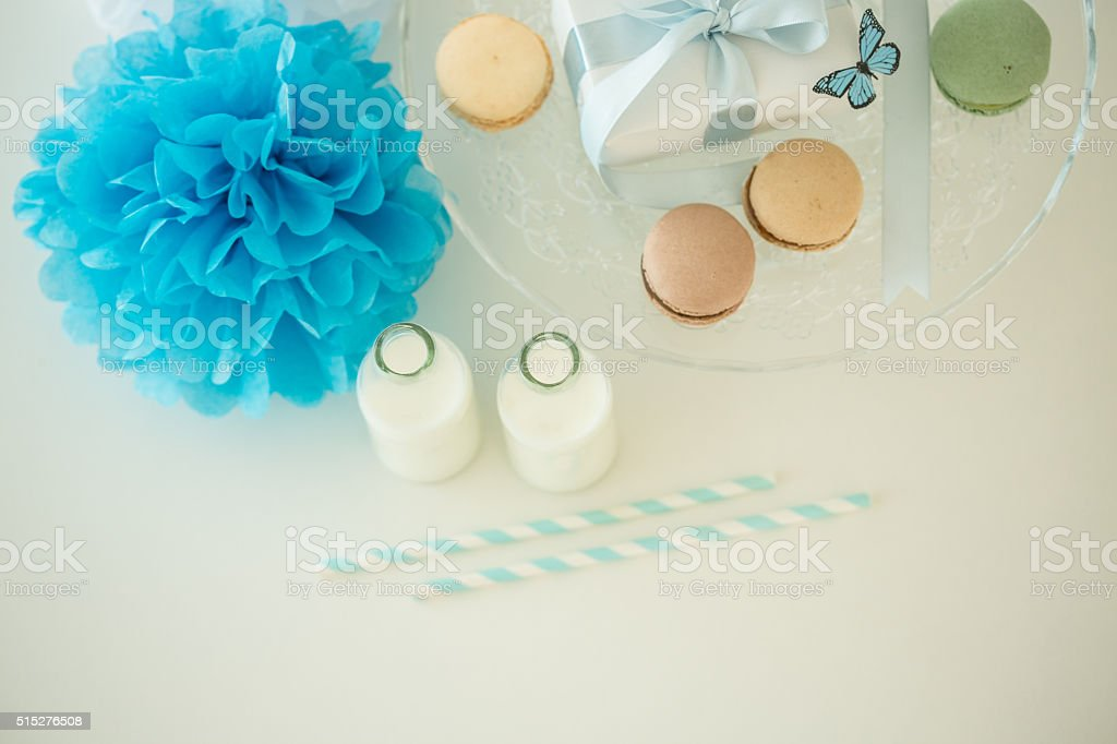 Party decoration on the table stock photo