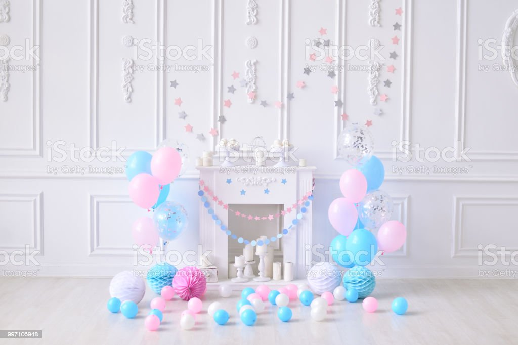 Party Decorations Birthday One Year Royalty Free Stock Photo