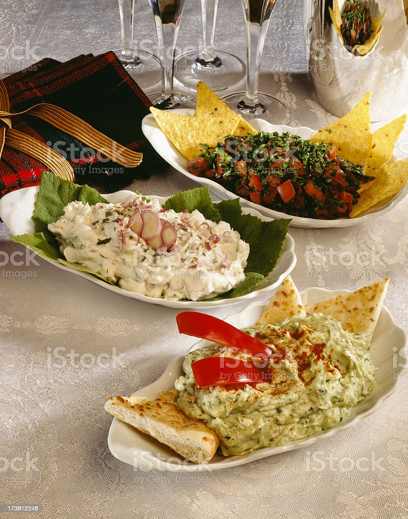 Party dips stock photo