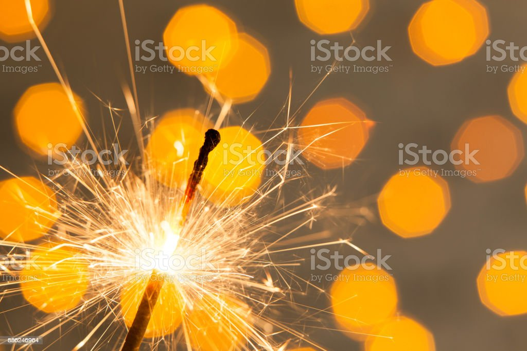 Party Feeling with Squib on Bright Background stock photo