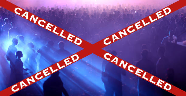 Party, festival and event cancelled due to Covid-19 stock photo